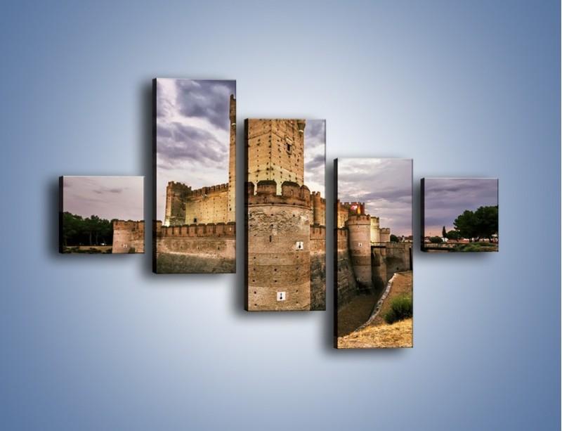 Obraz na płótnie – Zamek La Mota w Hiszpanii – pięcioczęściowy AM457W3