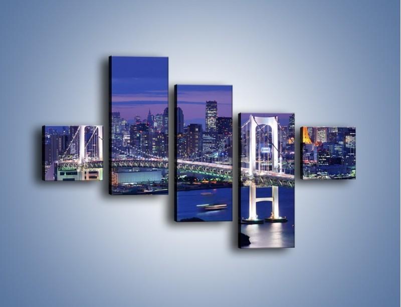 Obraz na płótnie – Tęczowy Most w Tokyo – pięcioczęściowy AM460W3