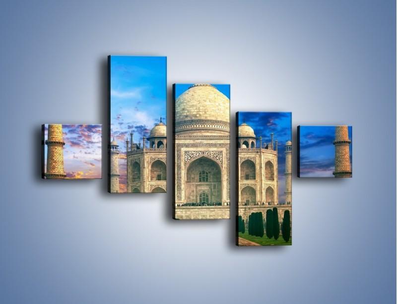 Obraz na płótnie – Tadź Mahal pod niebieskim niebem – pięcioczęściowy AM466W3