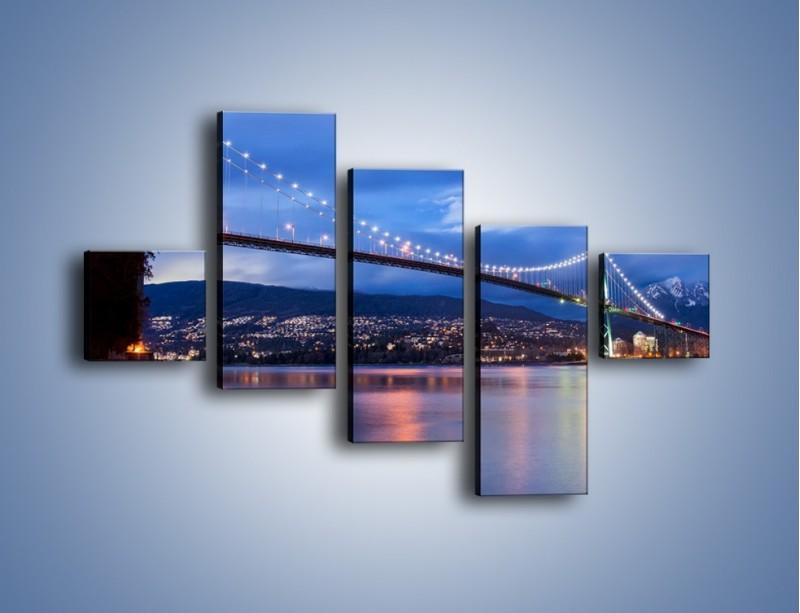 Obraz na płótnie – Most Lions Gate w Vancouver – pięcioczęściowy AM471W3