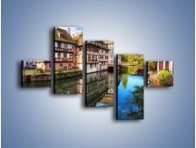 Obraz na płótnie – Tradycyjna architektura Strasburga – pięcioczęściowy AM485W3