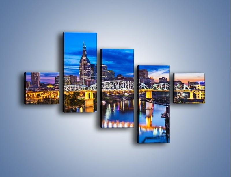 Obraz na płótnie – Most Shelby Street w Nashville – pięcioczęściowy AM489W3