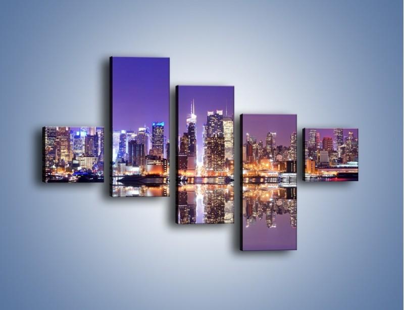 Obraz na płótnie – Panorama Midtown Manhattan – pięcioczęściowy AM492W3