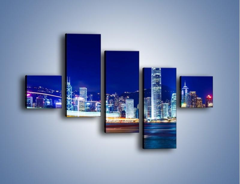 Obraz na płótnie – Panorama Hong Kongu – pięcioczęściowy AM499W3
