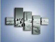 Obraz na płótnie – Centrum Dubaju we mgle – pięcioczęściowy AM502W3
