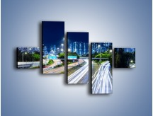 Obraz na płótnie – Autostrada prowadząca do Hong Kongu – pięcioczęściowy AM504W3