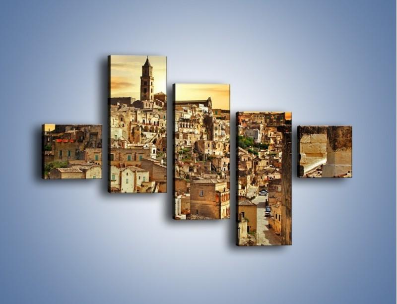 Obraz na płótnie – Matera – miasto wykute w skale – pięcioczęściowy AM517W3