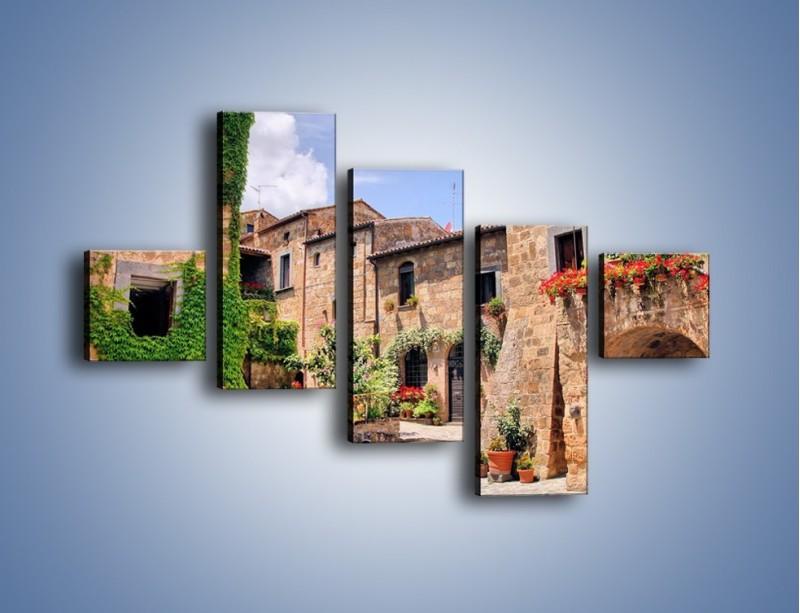 Obraz na płótnie – Romantyczna uliczka we Włoszech – pięcioczęściowy AM533W3