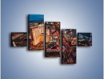 Obraz na płótnie – Centrum Las Vegas – pięcioczęściowy AM588W3