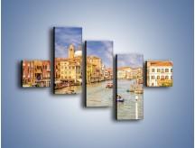 Obraz na płótnie – Canal Grande w Wenecji o poranku – pięcioczęściowy AM617W3