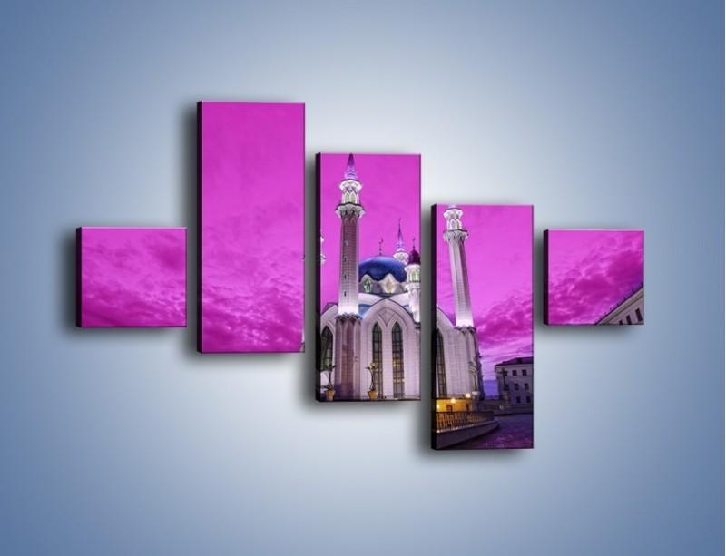 Obraz na płótnie – Meczet Kul Szarif – pięcioczęściowy AM642W3