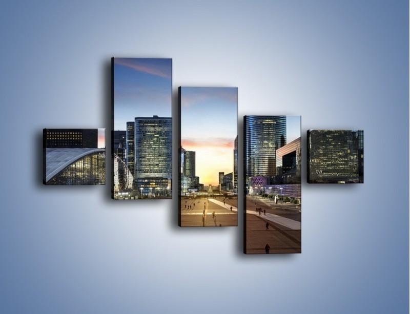Obraz na płótnie – Quartier La Défense w Paryżu – pięcioczęściowy AM647W3