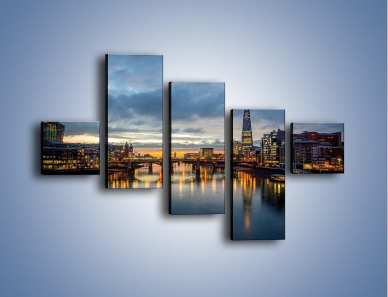 Obraz na płótnie – Millennium Bridge w Londynie – pięcioczęściowy AM651W3