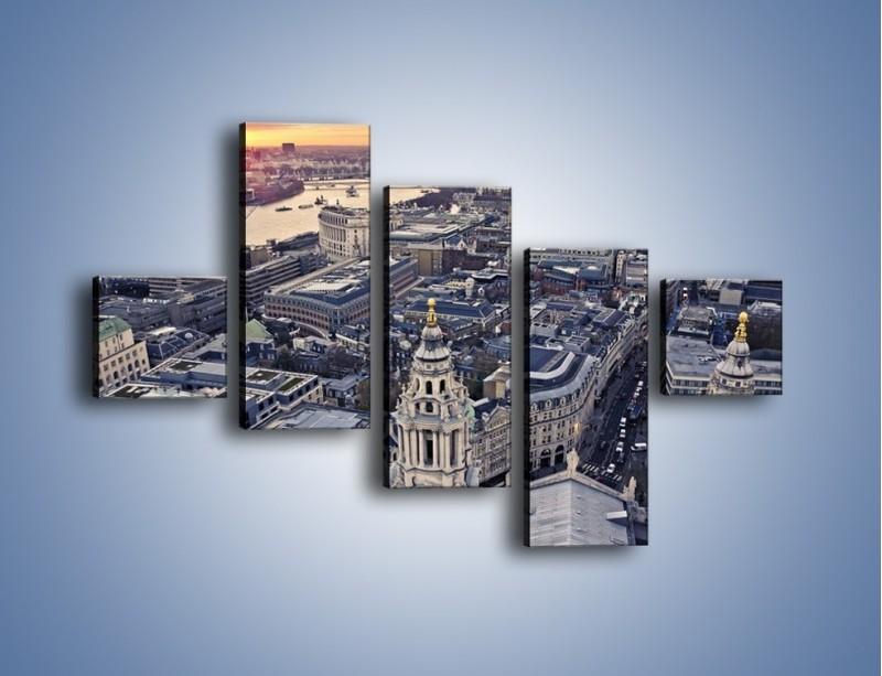 Obraz na płótnie – Widok na Londyn z Katedry św. Pawła – pięcioczęściowy AM652W3