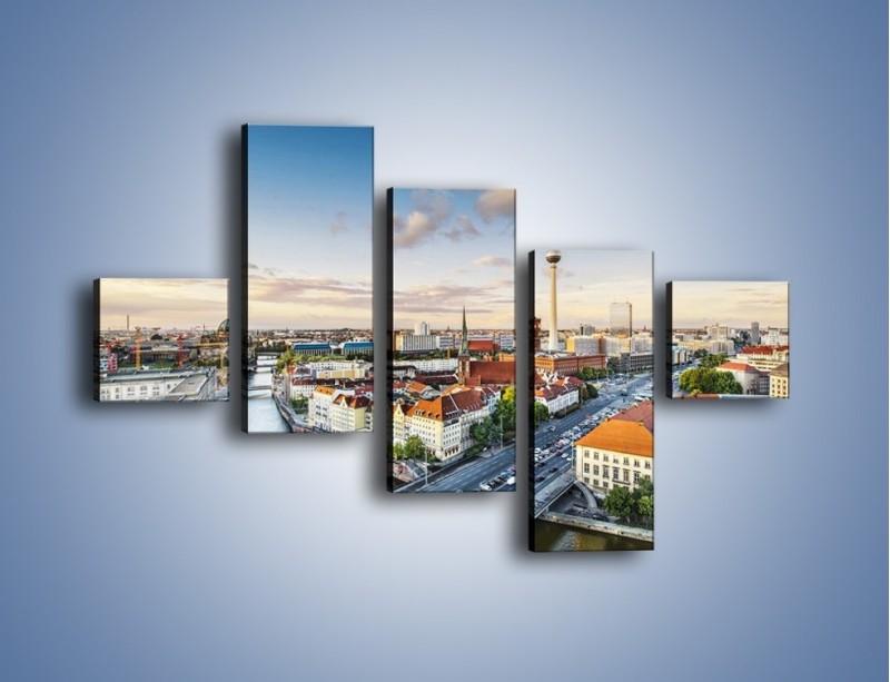 Obraz na płótnie – Panorama Berlina – pięcioczęściowy AM673W3