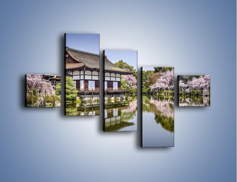 Obraz na płótnie – Świątynia Heian Shrine w Kyoto – pięcioczęściowy AM677W3