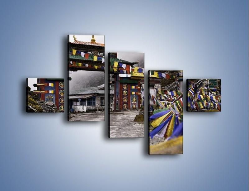 Obraz na płótnie – Brama do miasta Tawang w Tybecie – pięcioczęściowy AM689W3