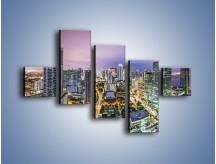 Obraz na płótnie – Centrum Miami – pięcioczęściowy AM702W3