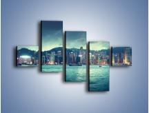 Obraz na płótnie – Linia nabrzeża Hong Kongu – pięcioczęściowy AM708W3
