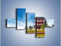 Obraz na płótnie – Chiński ogród w Singapurze – pięcioczęściowy AM715W3