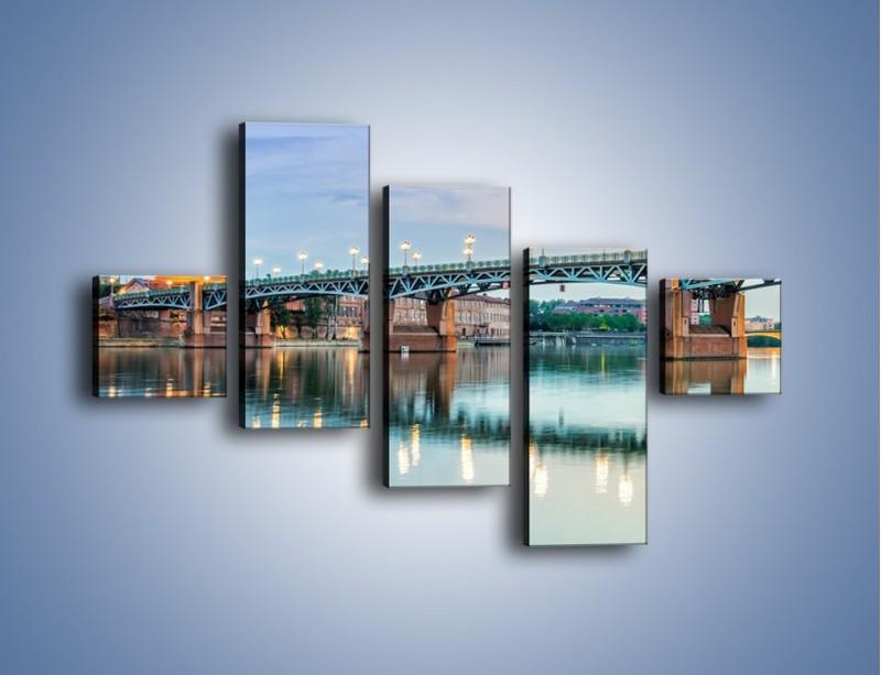 Obraz na płótnie – Most Saint-Pierre w Tuluzie – pięcioczęściowy AM721W3