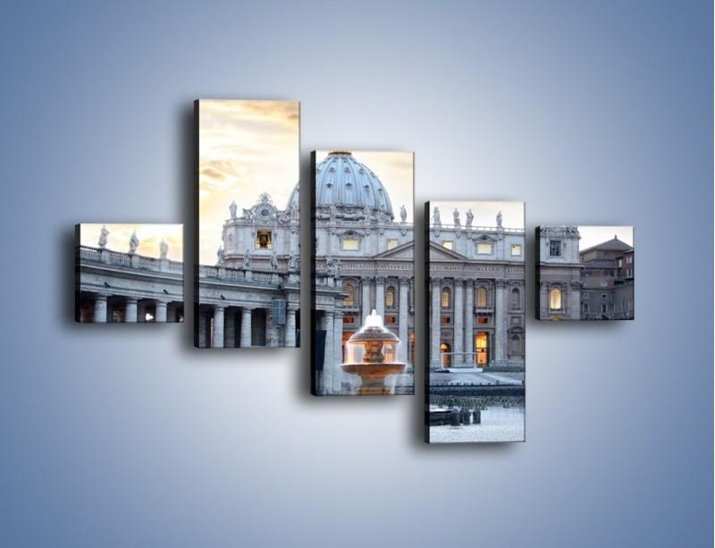 Obraz na płótnie – Bazylika św. Piotra w Watykanie – pięcioczęściowy AM722W3
