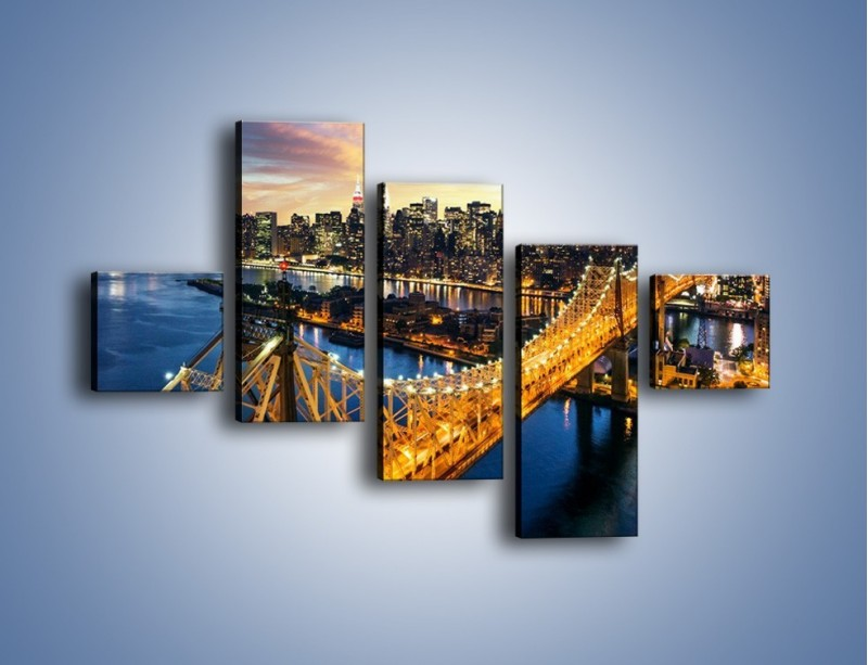 Obraz na płótnie – Queensboro Bridge w Nowym Yorku – pięcioczęściowy AM768W3