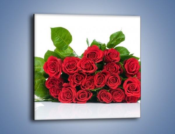 Obraz na płótnie – Idealna wiązanka czerwonych róż – jednoczęściowy kwadratowy K018