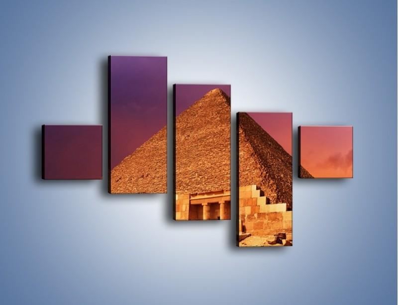 Obraz na płótnie – Piramida w Egipcie – pięcioczęściowy AM812W3