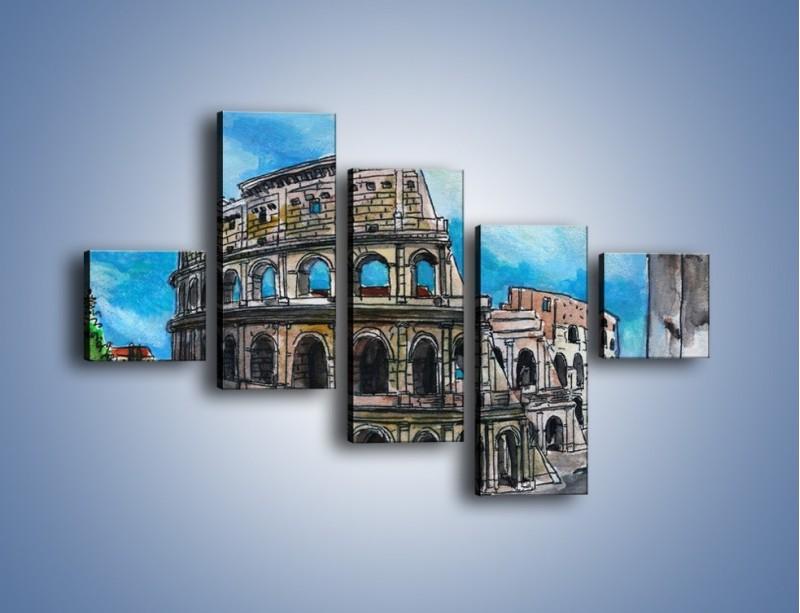 Obraz na płótnie – Znana budowla z bliska – pięcioczęściowy GR039W3