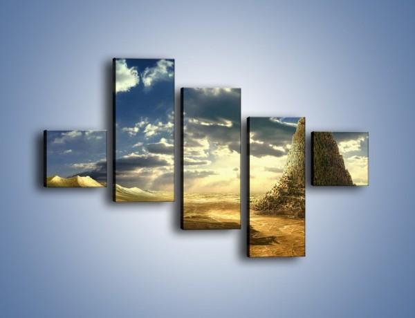 Obraz na płótnie – Przez górę aż do chmur – pięcioczęściowy GR139W3