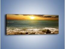 Obraz na płótnie – Brzegiem w stronę morza – jednoczęściowy panoramiczny KN1092A