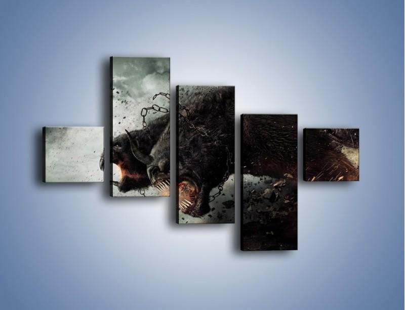 Obraz na płótnie – Groźny podmuch potworów – pięcioczęściowy GR174W3