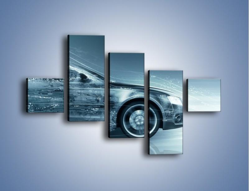 Obraz na płótnie – Auto z prędkością światła – pięcioczęściowy GR264W3