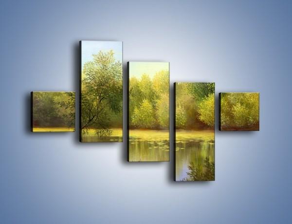 Obraz na płótnie – Wodny świat i drzewa – pięcioczęściowy GR289W3