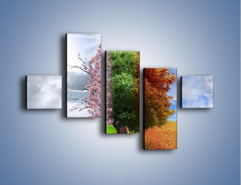 Obraz na płótnie – Cztery pory roku – pięcioczęściowy GR333W3