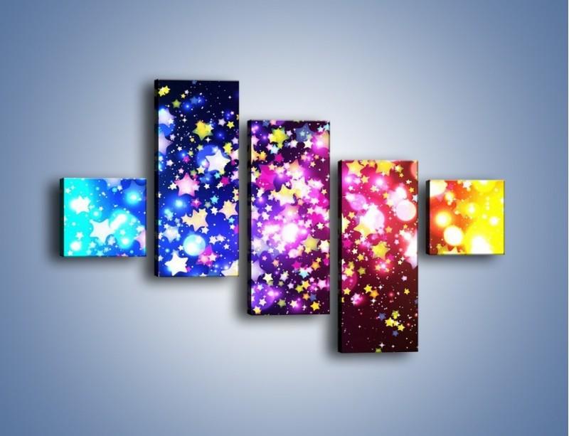 Obraz na płótnie – Kolory widziane nocą – pięcioczęściowy GR432W3
