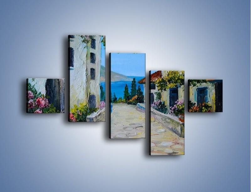 Obraz na płótnie – Urok włoskich uliczek – pięcioczęściowy GR459W3