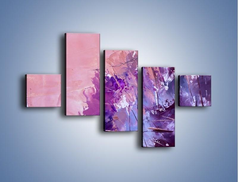 Obraz na płótnie – Mocna barwa fioletu – pięcioczęściowy GR472W3