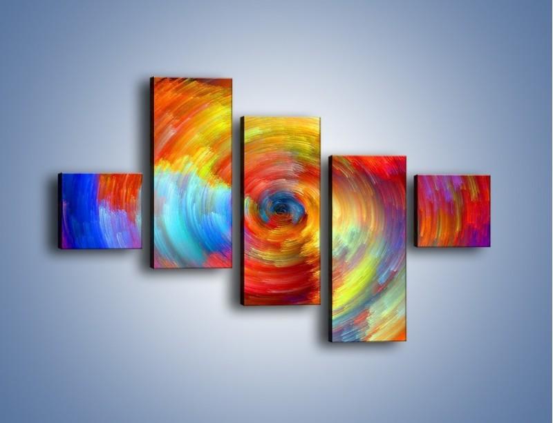 Obraz na płótnie – Kolorowy wir – pięcioczęściowy GR502W3