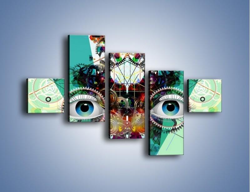 Obraz na płótnie – Mechanicznie otwarte oczy – pięcioczęściowy GR504W3