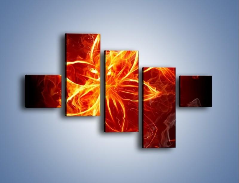 Obraz na płótnie – Spłonąć jak kwiat – pięcioczęściowy GR527W3