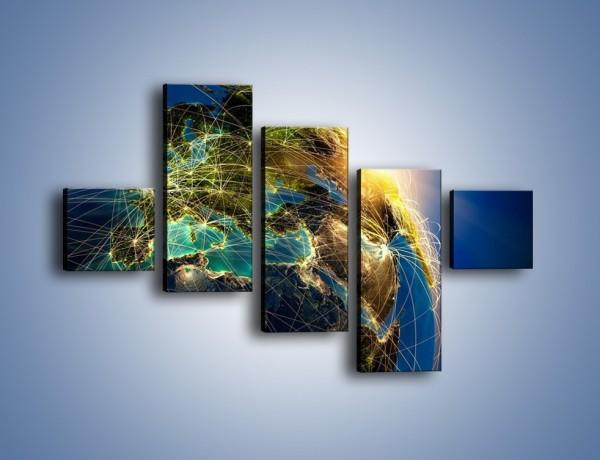 Obraz na płótnie – Światełko na świat – pięcioczęściowy GR533W3