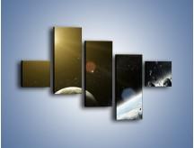 Obraz na płótnie – Dotrzeć między planety – pięcioczęściowy GR534W3