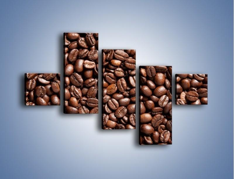Obraz na płótnie – Ziarna świeżej kawy – pięcioczęściowy JN061W3