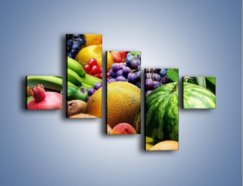 Obraz na płótnie – Stół pełen dojrzałych owoców – pięcioczęściowy JN072W3