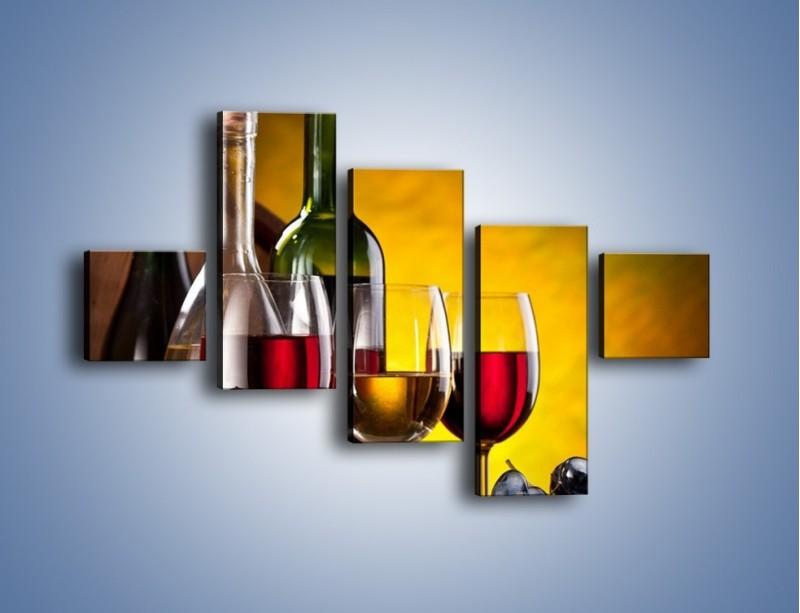 Obraz na płótnie – Wino z orzechami – pięcioczęściowy JN077W3