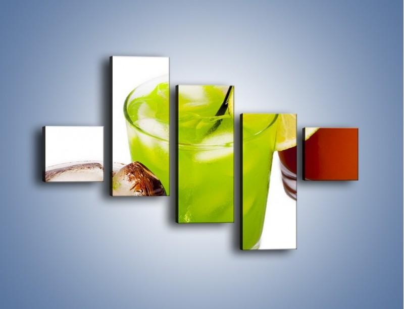 Obraz na płótnie – Kwaśno-słodkie drinki – pięcioczęściowy JN093W3