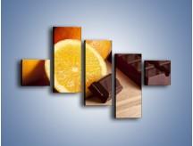 Obraz na płótnie – Czekoladowo-pomarańczowa rozkosz – pięcioczęściowy JN094W3