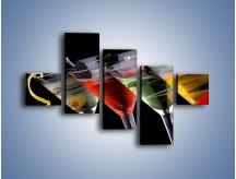 Obraz na płótnie – Alkoholowa zabawa do rana – pięcioczęściowy JN100W3